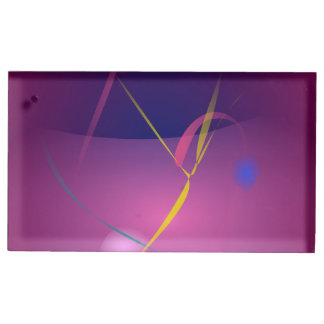 Abstract Microorganism Purple Brown Table Card Holders