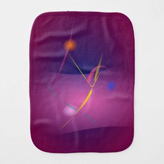 Abstract Microorganism Purple Brown Baby Burp Cloths