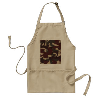 Abstract Military Camouflage Pattern Adult Apron