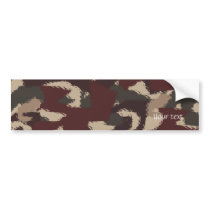 Abstract Military Camouflage Pattern Bumper Sticker