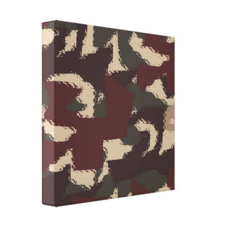 Abstract Military Camouflage Pattern Canvas Print