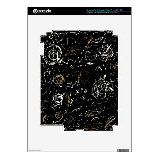Abstract mind - brown iPad 3 decal