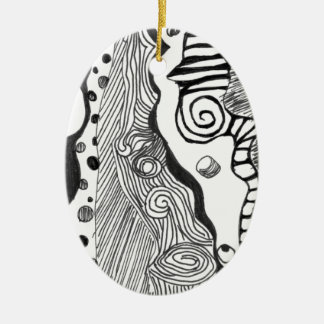 Abstract mind ceramic ornament