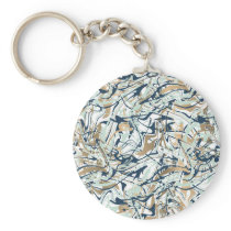 Abstract Minimal Memphis Pattern Keychain