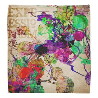 Abstract Mixed Media Bandana