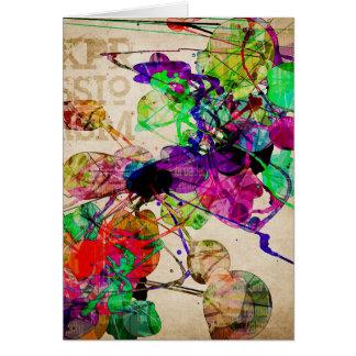 Abstract Mixed Media Card