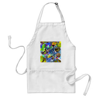 Abstract Mixed Media Collage Adult Apron