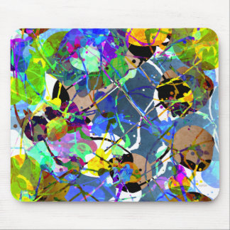 Abstract Mixed Media Collage Mouse Pad