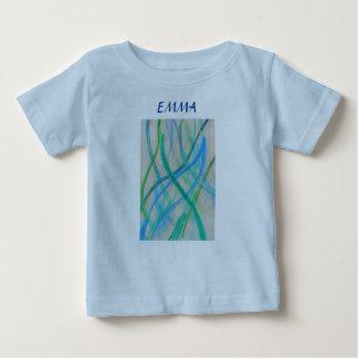 Abstract mixed media grasses shirt