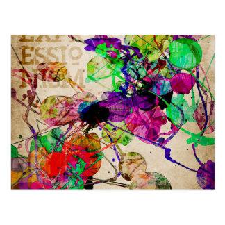 Abstract Mixed Media Postcard