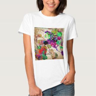 Abstract Mixed Media Tee Shirt