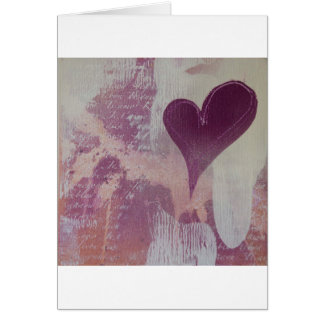 Abstract Mixed Media Valentines Day Card
