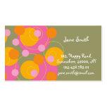 Abstract Mod Art Retro Fun Pink Dots Profile Card Business Card Templates