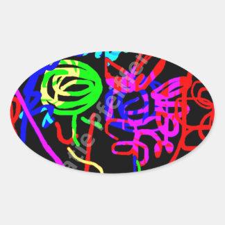 Abstract Mod Pop Art Energy of Love Sticker