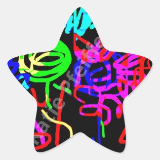 Abstract Mod Pop Art Energy of Love Star Sticker