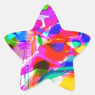 Abstract Mod Pop Art Flower Bouquet Star Sticker