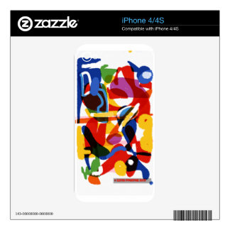 Abstract Mod World iPhone 4 Skin