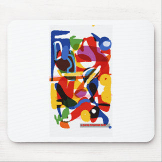 Abstract Mod World Mouse Pad