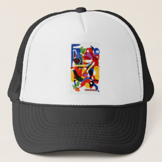 Abstract Mod World Trucker Hat