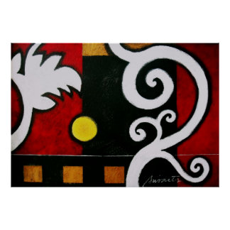 ABSTRACT MODERN ART CANVAS PAINTING POSTER