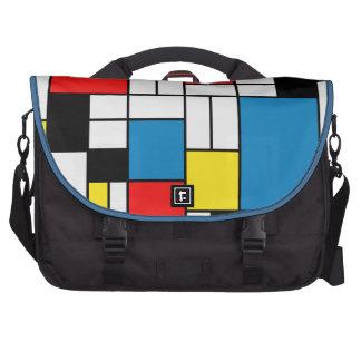 Abstract Modern Art Laptop Messenger Bag