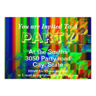 Abstract Modern Art Striped Fractal Pattern Card