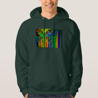 Abstract Modern Art Striped Fractal Pattern Hoodie