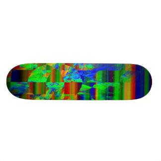 Abstract Modern Art Striped Fractal Pattern Skate Deck