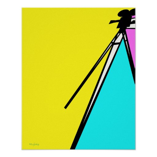 Abstract Modern Art Style Technicolor MovieCamera Posters