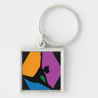 Abstract Modern Black Dancer Keychain