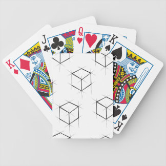 Abstract modern blueprint style cubic boxes bicycle playing cards