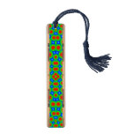 Abstract modern circle pattern maple bookmark