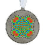 Abstract modern circle pattern scalloped ornament