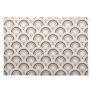 Abstract Modern Concentric Circles Texture Cloth Placemat