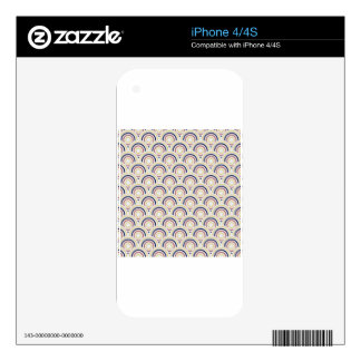 Abstract Modern Concentric Circles Texture iPhone 4S Decals