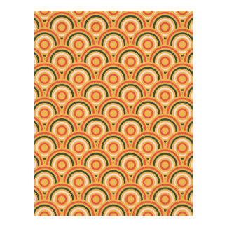 Abstract Modern Concentric Circles Texture Letterhead