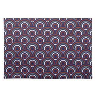Abstract Modern Concentric Circles Texture Placemat