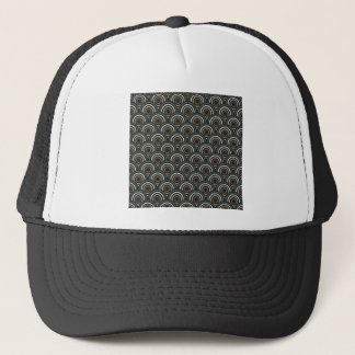 Abstract Modern Concentric Circles Texture Trucker Hat