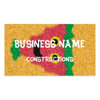 Abstract modern face pattern Double-Sided standard business cards (Pack of 100)