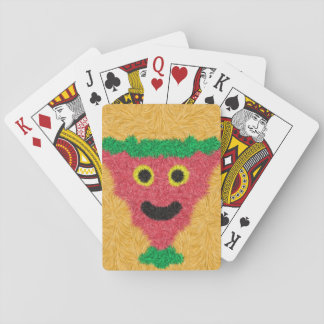 Abstract modern face pattern playing cards