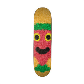 Abstract modern face pattern skate boards