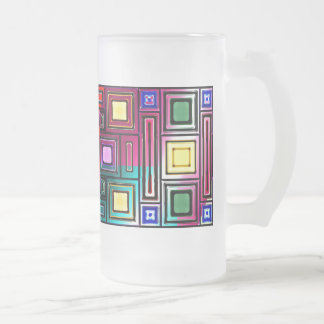 Abstract Modern Frosted Glass Beer Mug