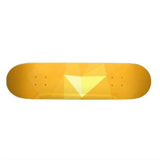 Abstract & Modern Geometric Designs - Star Glow Skateboard