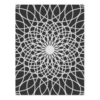 Abstract modern lotus postcard