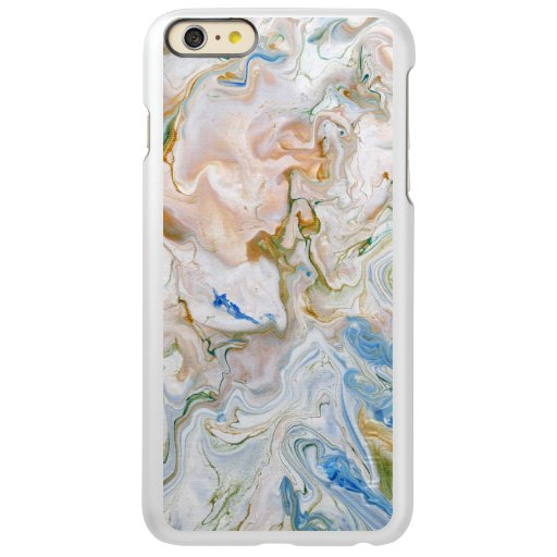 Abstract modern marbel wavy painting pattern incipio feather shine iPhone 6 plus case