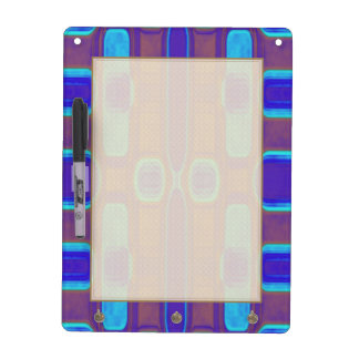 Abstract Modern Pattern Blue Purple Brown Dry Erase Board