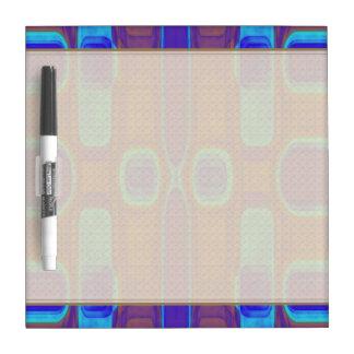 Abstract Modern Pattern Blue Purple Brown Dry-Erase Board
