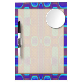 Abstract Modern Pattern Blue Purple Brown Dry Erase Board With Mirror