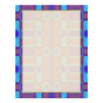 Abstract Modern Pattern Blue Purple Brown Flyer