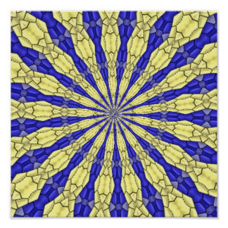 Abstract modern pattern poster